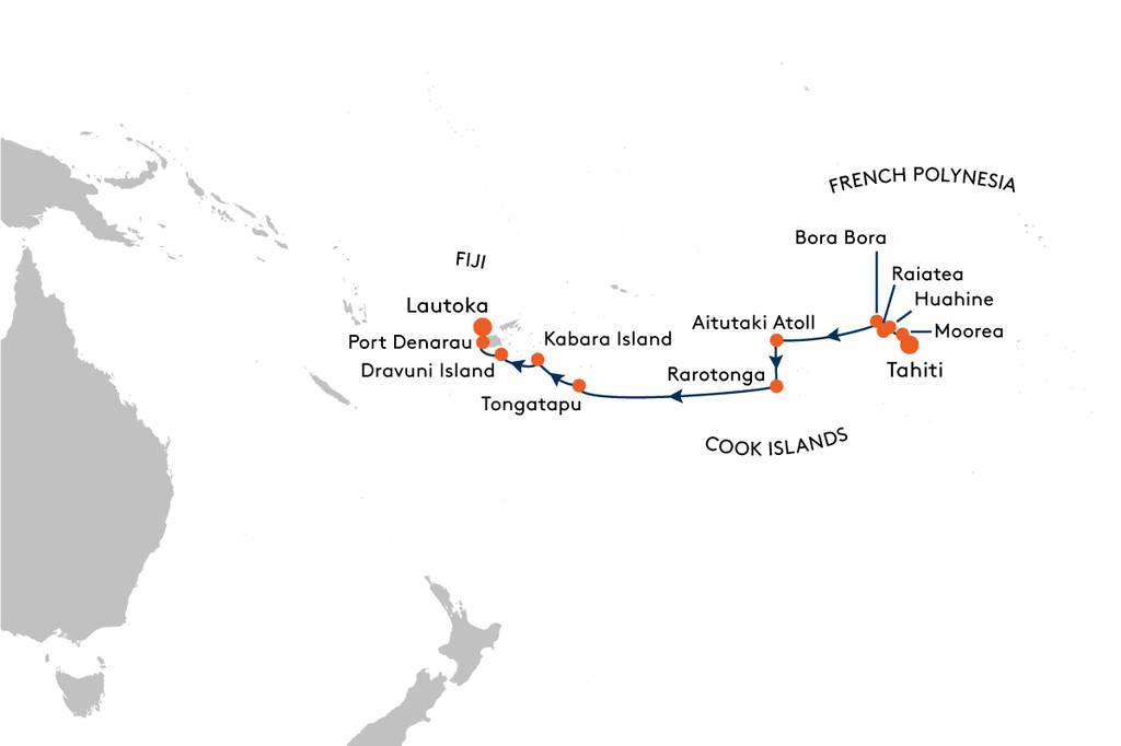 Cruise from Tahiti to Fiji with MS EUROPA 2 - EUX2029 ... on fiji vanuatu map, fiji micronesia map, fiji world map with oceans, fiji south pacific, fiji tonga map, fiji australia map, fiji tropical cyclone map, fiji pacific ocean map, fiji hawaii map, fiji bora bora, fiji indonesia map, fiji new zealand map, fiji islands, fiji oceania map,