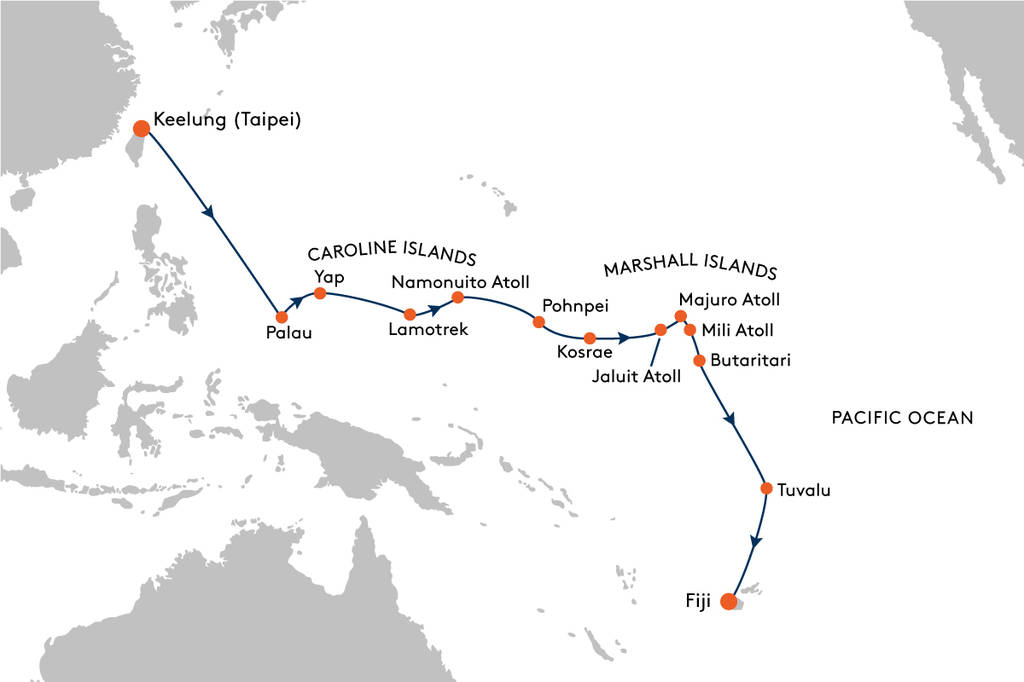 Expedition Cruise From Keelung To Fiji With Hanseatic Nature